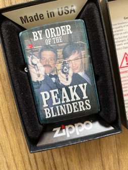 By Order Of..  ZIPPO® KiSS Lighter - Peaky Blinders - Shelby Gang Arthur  - Cillian Murphy Smoking TV Show Gift
