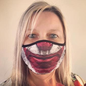 Joker Smile KiSS Face Mask - Handmade - Movie Joaquin Pheonix - Arthur Fleck - Comics - Villain - Covid-19 Coronavirus reusable facemask
