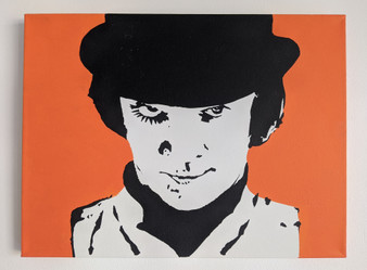 A Clockwork Orange Alex  Poster or Canvas - Original Art Acrylic Canvas Painting