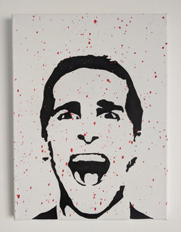 American Psycho Patrick Bateman Poster or Canvas - Original Art Acrylic Canvas Painting