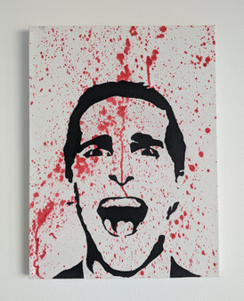 American Psycho #2 Patrick Bateman Poster or Canvas - Original Art Acrylic Canvas Painting