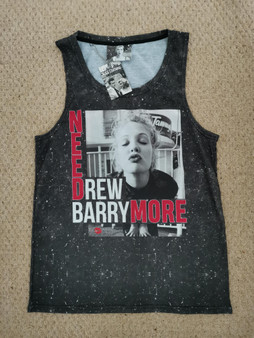 Drew Barrymore KiSS Basketball Vest - Need More, Scream 90s - Poison Ivy - Never Been Kissed - Charlie's Angels - Santa Clarita