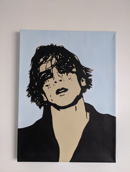 Cody Fern Poster or Canvas - Original Art Acrylic Canvas Painting - American Horror Story
