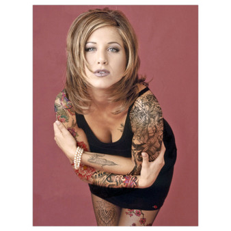 Rachel Green Ink KiSS Poster or Canvas - Jennifer Aniston - Tattooed - Alternative 90s Tattooed - Friends Tv Show