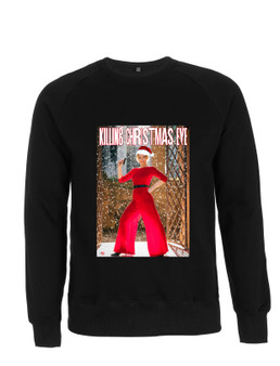 Killing Christmas Eve KiSS Sweatshirt - Villanelle Inspired - Jodie Comer Sandra Oh - Xmas Jumper Villaneve