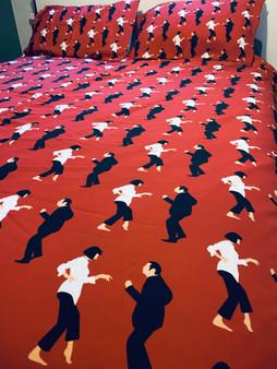 Pulp Fiction KiSS Bedding Duvet Set - Movie inspired - Dance - Tarantino John Travolta Uma Thurman