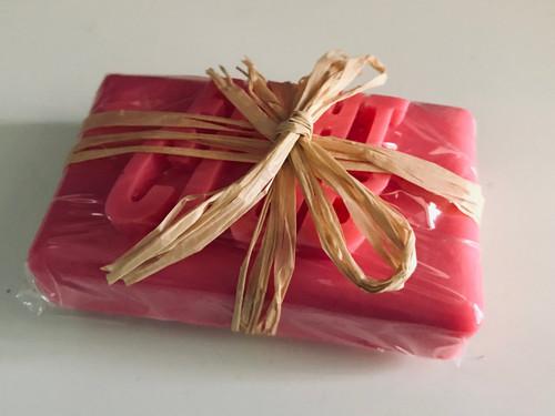 Fight Club Inspired KiSS Soap - Homemade Pink Soap Bar - Fragranced - Tyler Durden - Stocking Filler
