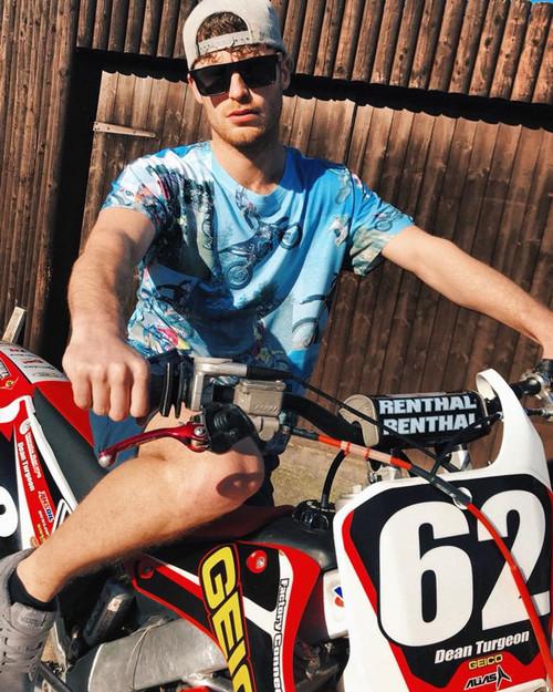 Fight Club MotoX KiSS All Over T-Shirt - Motocross Dirt Bike - Motorbike - Tyler Durden Inspired - men's gift, present for biker