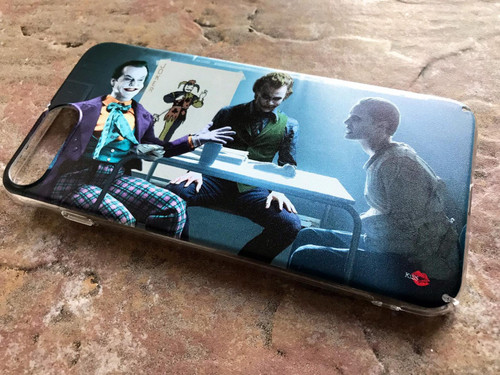 3 Jokers Meeting KiSS Phone Case - Jack Nicholson, Heath Ledger, Jared Leto - Why so Serious - Batman - Suicide Squad Joker Cards