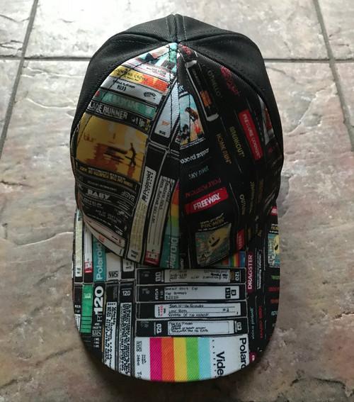 Cassettes, VHS, Atari KiSS Baseball Cap - Retro - Video Tapes, 80s 90s - Handmade Unique - Gift Idea, Christmas Birthday