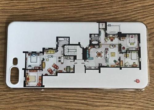 Friends Apartments KiSS Phone Case - TV Show - The One Where - Chandler, Rachel, Ross, Joey, Phoebe & Monica