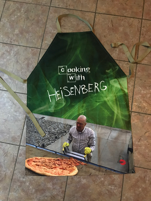 Cooking With Walt KiSS Apron - Breaking Bad Inspired - Gift Idea - Bryan Cranston - Pizza - Handmade