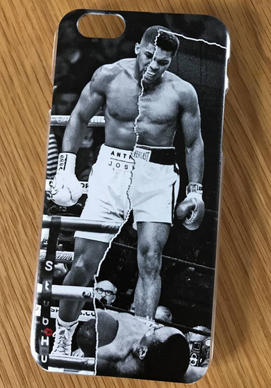 AJ/Ali Boxing KiSS Phone Case - Anthony Joshua V Muhammad Ali - Half & Half - Boxing Sports Fan - Christmas Present Gift - Stocking Filler