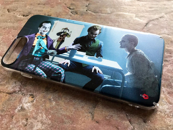 3 Jokers Meeting KiSS Phone Case - Jack Nicholson, Heath Ledger, Jared Leto - Why so Serious - Batman - Suicide Squad Joker Cards