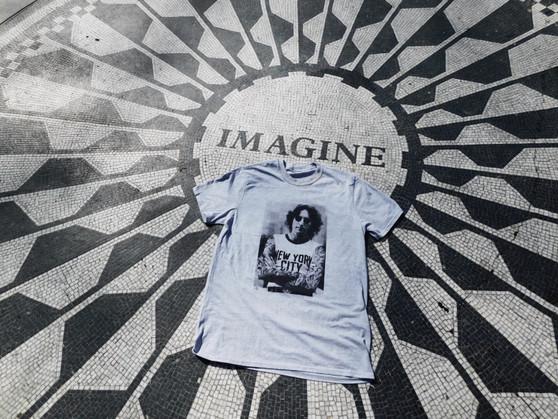 John Lennon Tattooed KiSS T-Shirt - Inked Up - Beatles - Tattoo Edit - New York City - 60s 70s