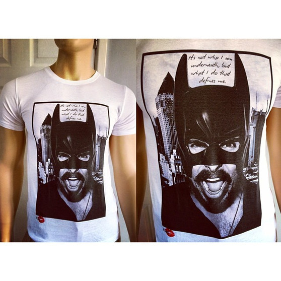 Batman Quote KiSS T-Shirt - Superhero, Christian Bale - Funny Unique gift him & her - Dark Knight - Movies darkest timeline