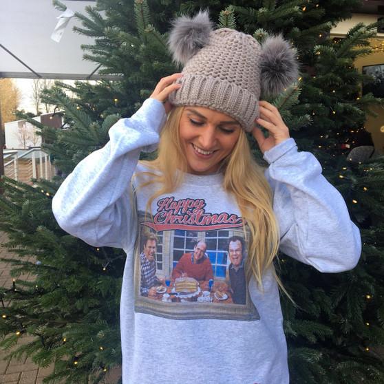 Step Bros Xmas KiSS Sweatshirt - Happy Christmas - Movie Inspired - Will Ferrel John C Reilly - Funny Jumper