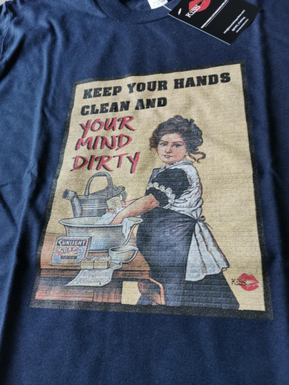 Soap KiSS T-Shirt - Keep Clean - Dirty Mind - Retro Vintage Ad Inspired - Gift Idea