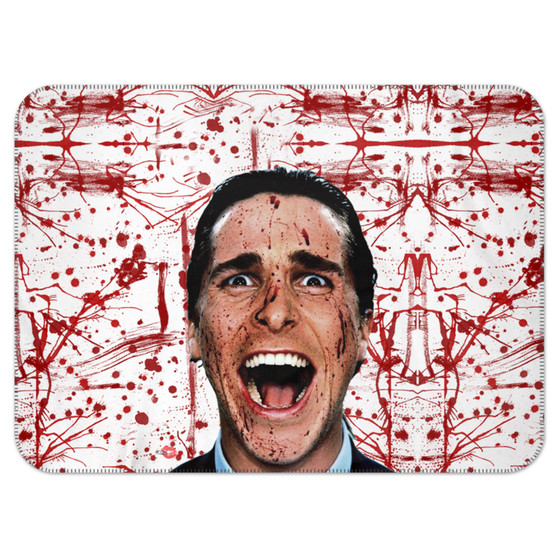 American Psycho KiSS Blanket - Blood Splatter Christian Bale - Have a Killer Day - Horror Funny Halloween - present