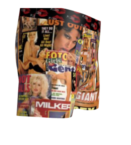 Black Sugar XXX Girls KiSS Cut & Sew Boxer Briefs - FightClub Inspired - Porn, retro Tyler Durden - 日本playboy girlsxxx - 70s