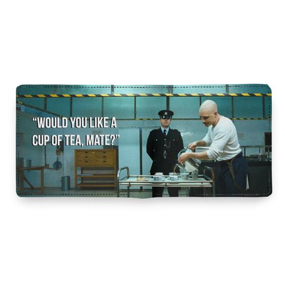 Charles Bronson Tea KiSS Wallet - Cuppa - Tom Hardy - Movie Scene Inspired - Prison - Gangster