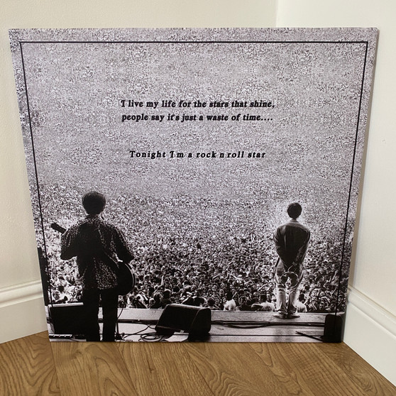 Oasis Square Canvas - Rock N Roll Star Lyric - Art, Wall Decor - Unique Home Gift Idea - Maine Road - What's The Story - Indie Music