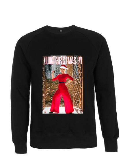 Killing Christmas Eve KiSS Sweatshirt - Villanelle Inspired - Jodie Comer Sandra Oh - Xmas Jumper Villaneve