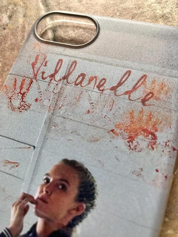 Villanelle KiSS Phone Case - Killing Eve Inspired - Jodie Comer Blood Tv Show Quote - British Assassin - Black Comedy Dark Timeline
