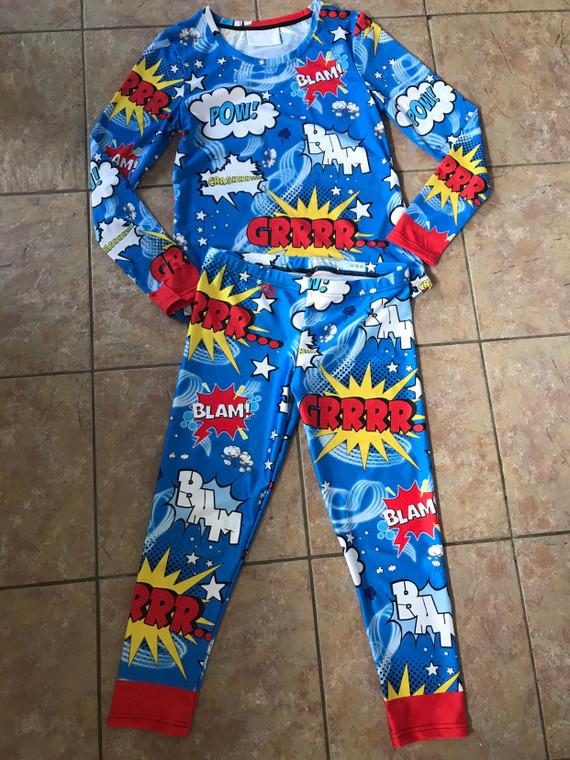 Villanelle Inspired Killing Eve Pyjamas PJ KiSS Set - Shh TV - Comic Book Pop Art Superhero - Gift Idea Present - Jodie Comer - Leggings