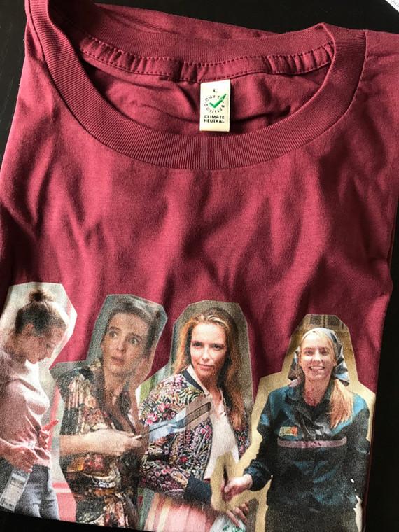Villanelle x4 KiSS T-Shirt - Killing Eve Inspired - Jodie Comer New Tv Show Season - British Assassin - Black Comedy Dark Timeline