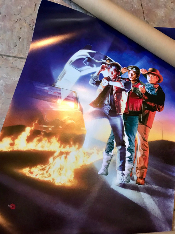 Back To The Future inspired KiSS Poster or Canvas - Trilogy Wall Art - Marty McFly 80s Delorean, Doc - Michael J Fox