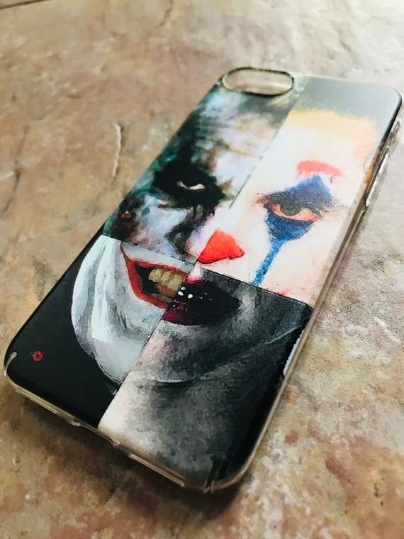 4 Jokers KiSS Phone Case - Jack Nicholson, Heath Ledger, Jared Leto, Joaquin Phoenix - Why so Serious - Batman - Suicide Squad Joker Dark
