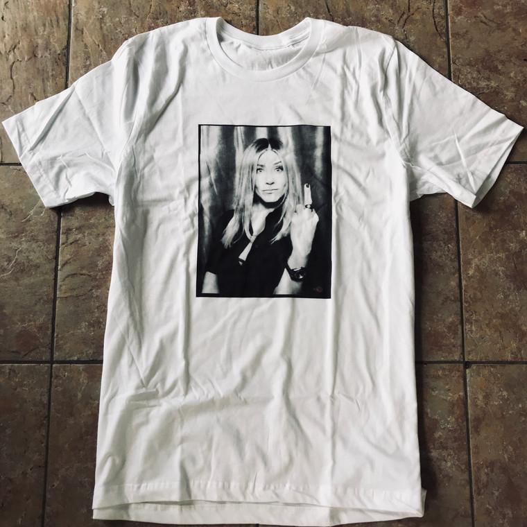 Jennifer Aniston Middle Finger KiSS T-Shirt - Friends, Rachel Green - Present, Gift Idea
