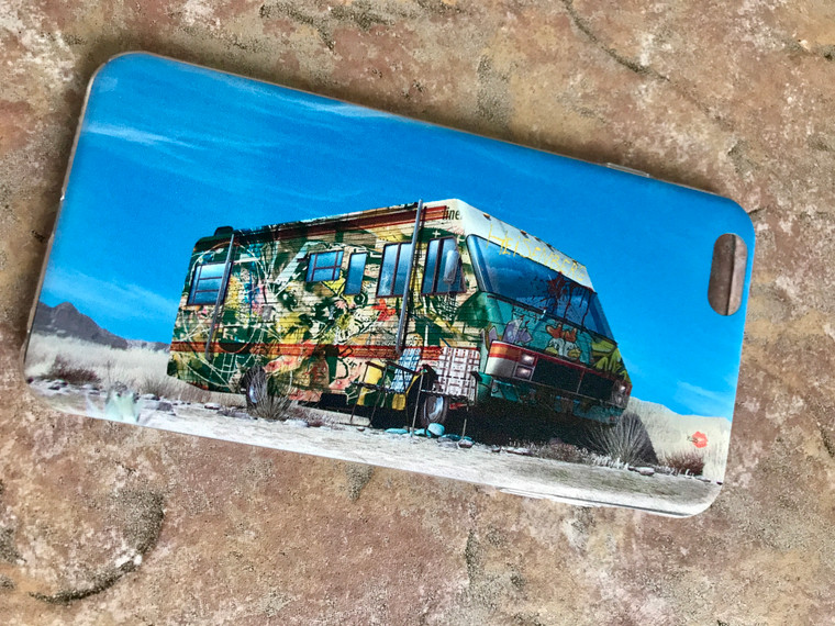 Breaking Bad Graffiti KiSS Phone Case - New Mexico RV Tv Show Inspired - Aaron Paul - Bryan Cranston - Stocking Filler Birthday Present
