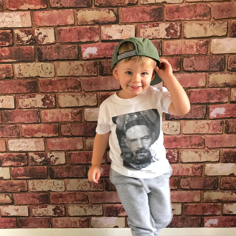 Bad Walt KiSS KIDS T-Shirt - Jesse Pinkman and Walter White - Baby/Toddler Cute Clothing - Breaking Bad Inspired