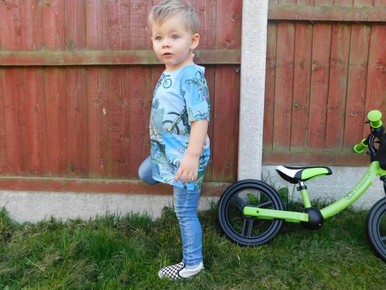 MotoX KiSS KiDS All Over T-Shirt - Motocross Dirt Bike - Motorbike - Tyler Durden Inspired - Cool toddler