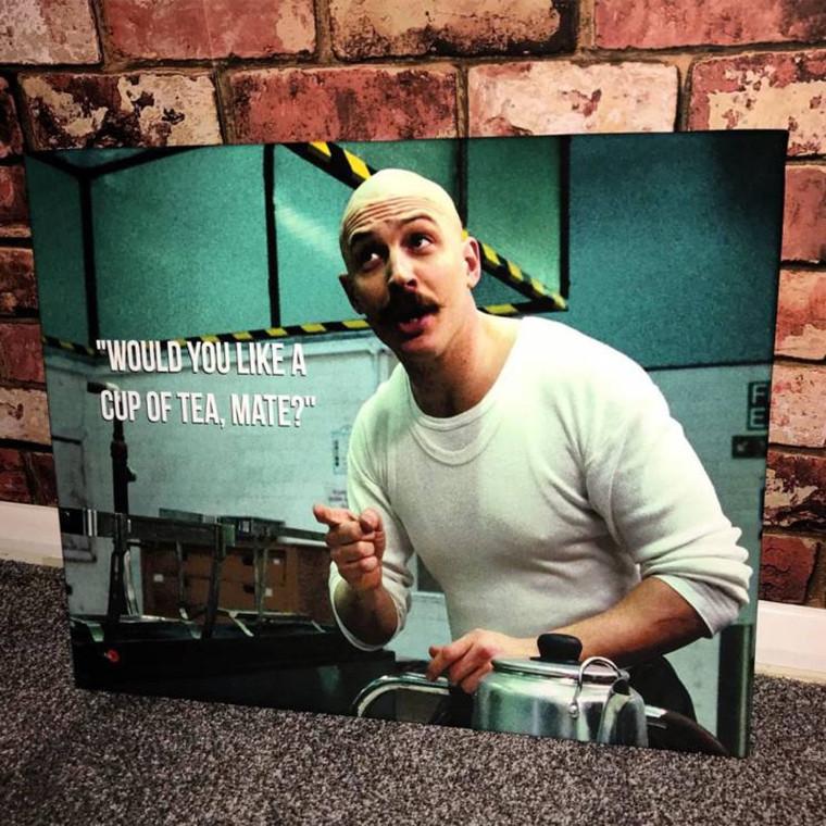 Charles Bronson Tea KiSS Canvas or Poster - Tom Hardy - Prison, Movie Scene - Wall Art, Home Decor - Unique Gift Idea Valentines