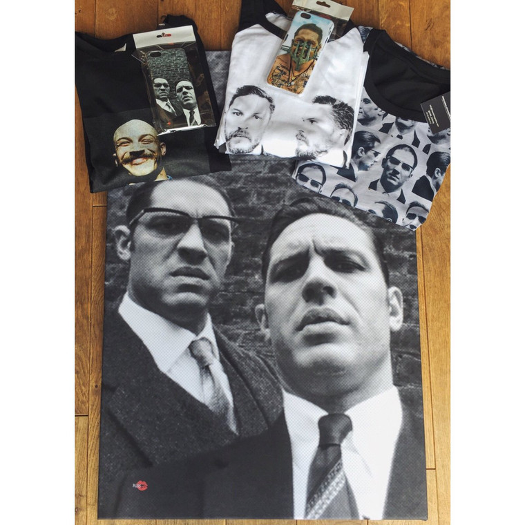 Tom Hardy/Krays KiSS Poster or Canvas - The Kray Twins - Legend - Movie, selfie - Gangster Wall Art - British London - Movie Fan - Gift idea Christmas