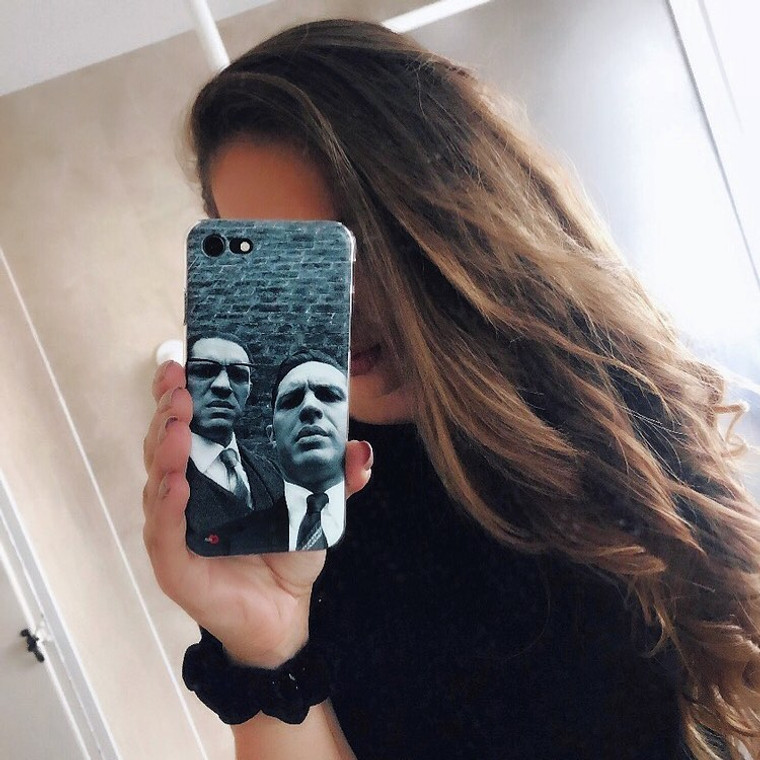 Kray Twins/Tom Hardy KiSS Phone Case - Legend Movie - Phone Selfie - Stocking filler, Christmas or Birthday Gift