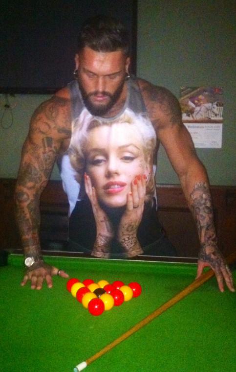 Marilyn Monroe Tattooed KiSS Basketball Vest - Inked Sleeve design - Art, Unique Artwork - Tattooist Artist - Present Gift idea