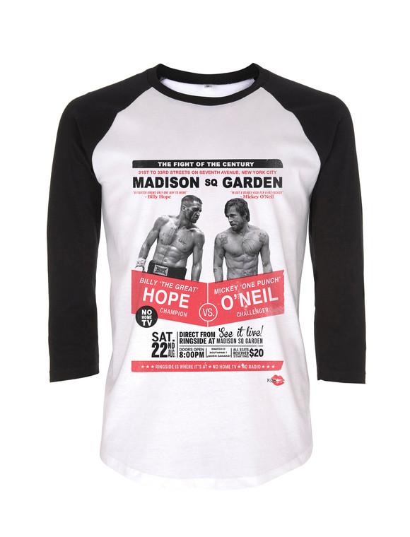 Boxing Southpaw Snatch KiSS Baseball T-Shirt - Billy Hope, Mickey O'Niell - Funny, Movie fan - Gift idea