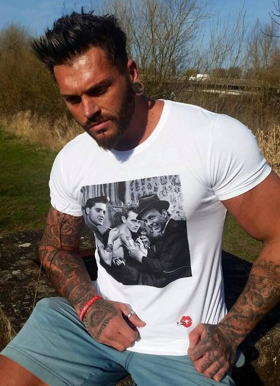 Frank Sinatra, James Dean, Elvis Presley Tattoo KiSS T-Shirt - Tattooist Shop - Art, Wall Decor - Unique Home Gift Idea