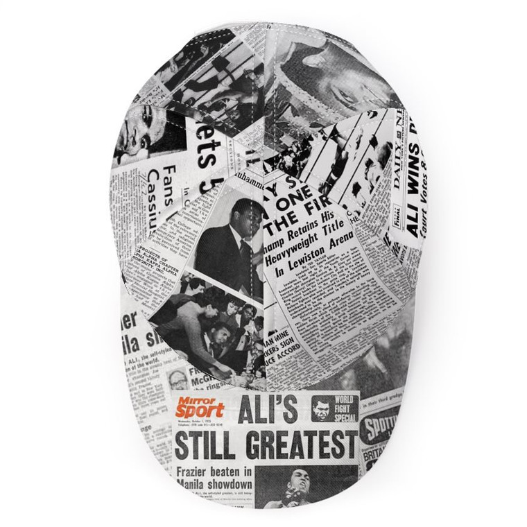 Muhammad Ali KiSS Baseball Cap - Newspaper Headlines - Cassius Clay - Handmade Unique - Gift