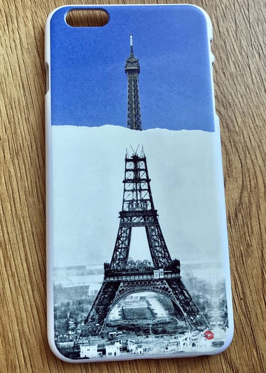 Eiffel Construction KiSS Phone Case - Paris France - Then and Now - Building Iconic - Gustavo - Stocking Filler
