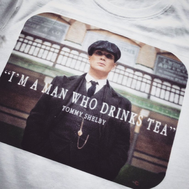 Tommy Shelby Tea KiSS T-Shirt - Peaky Blinders inspired- Cillian Murphy, UK TV Show - Stocking Filler - Present/Gift Idea - Gangster