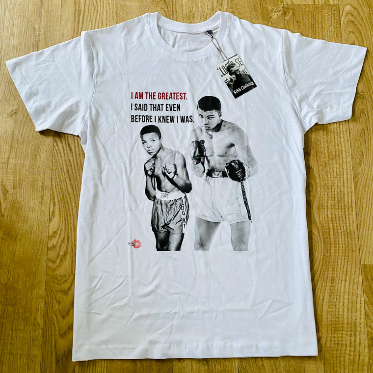 Muhammad Ali Kid Quote KiSS T-Shirt - Boxing then and now - Sports Fan - gift for him - Cassius Clay