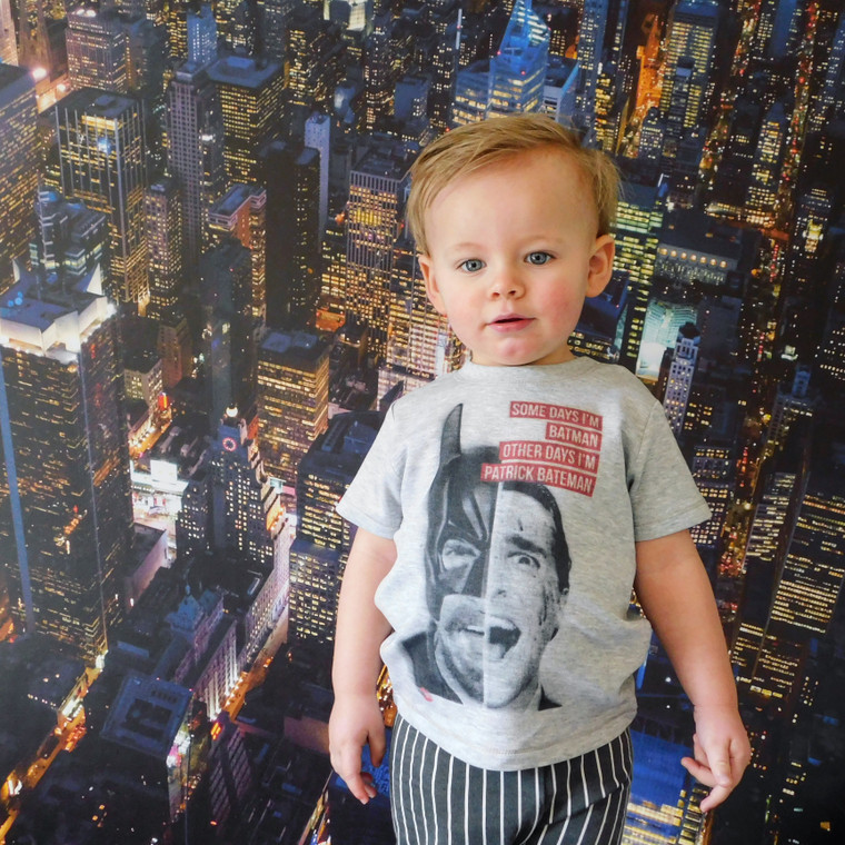 Batman/Patrick Bateman KiSS KIDS T-Shirt - American Psycho, Christian Bale - Funny Unique gift idea toddler - Dark Knight - Movies