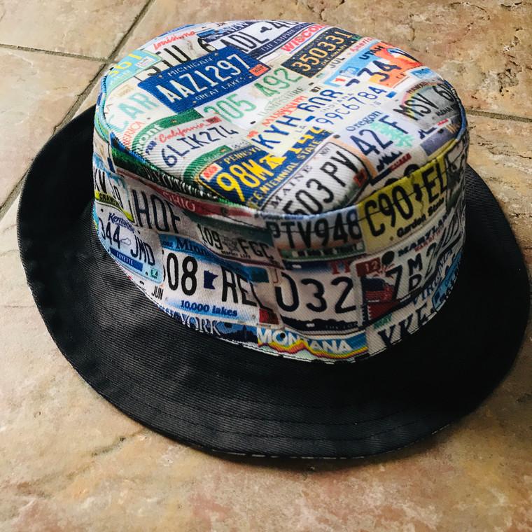 USA States KiSS Bucket Hat - America - American License Licence Plates - NYC LA Texas Chicago - Travel
