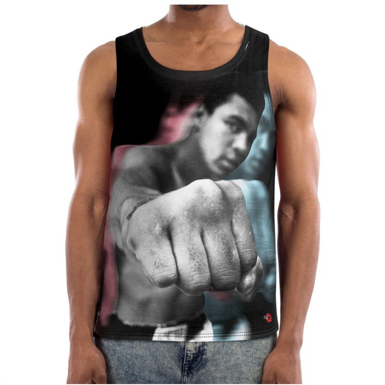Ali 3D KiSS Basketball Vest - Muhammad Boxing - Cassius Clay - Sports Fan Punch - Gift Idea
