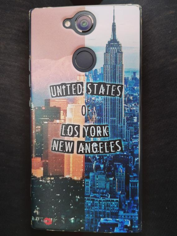 LA NY KiSS Phone Case - Los Angeles New York - Half and Half USA Cities